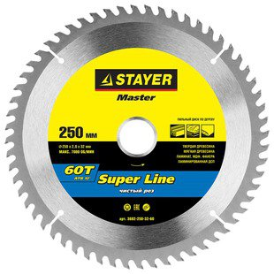 Пильный диск STAYER Super Line 3682-250-32-60 250х32 мм