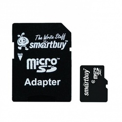 SmartBuy microSDXC 256GB Class 10 UHS-1 + SD adapter (SB256GBSDCL10-01)
